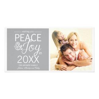 La nouvelle année moderne souhaite la paix et la j photocartes personnalisées