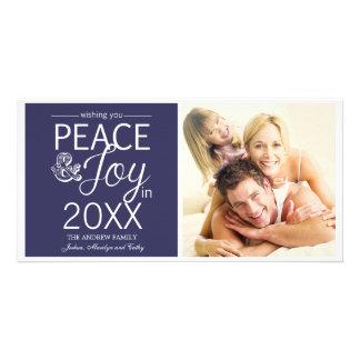 La nouvelle année moderne souhaite la paix et la j photocarte customisée