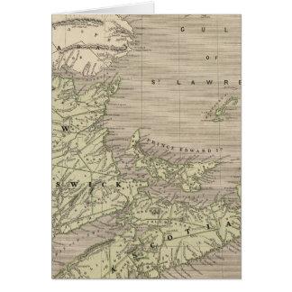 La Nouvelle-Écosse, Nouveau Brunswick Carte De Vœux