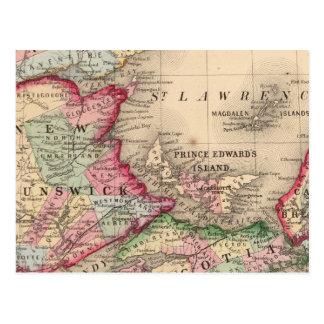 La Nouvelle-Écosse, Nouveau Brunswick, carte par