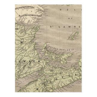 La Nouvelle-Écosse, Nouveau Brunswick Carte Postale