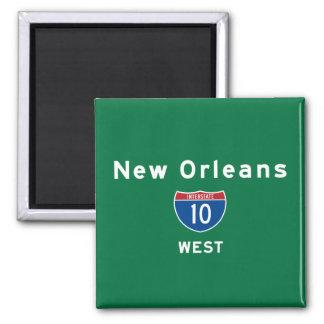 La Nouvelle-Orléans 10 Magnet Carré
