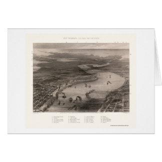 La Nouvelle-Orléans, carte panoramique de LA -