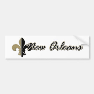 La Nouvelle-Orléans Fleur de lis bk/gd Autocollant Pour Voiture