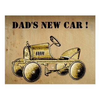 La nouvelle voiture du papa ! … carte postale