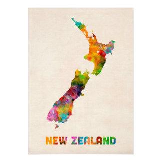 La Nouvelle Zélande carte d aquarelle Invitations Personnalisées