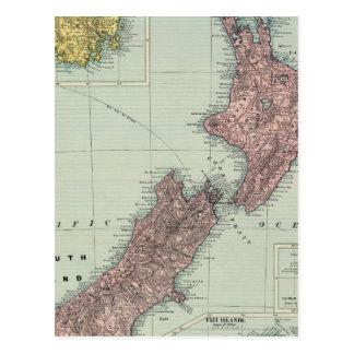La Nouvelle Zélande, Tasmanie, Fidji Carte Postale
