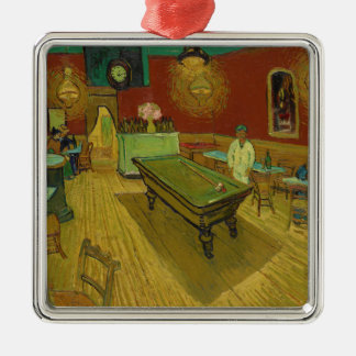 La nuit Café par Vincent van Gogh (1888) Ornement Carré Argenté