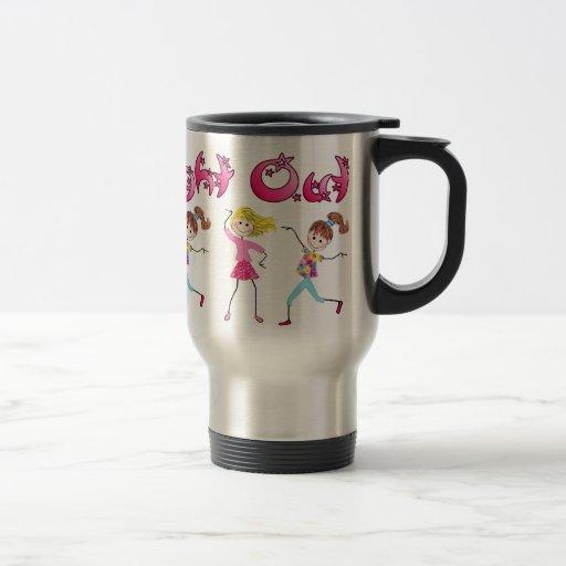 La nuit de la fille attaquent mug de voyage en acier inoxydable