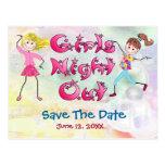 La nuit de la fille - faites gagner la date cartes postales