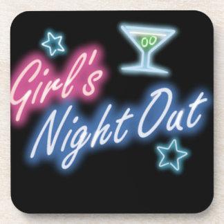 La nuit de la fille Party le motif Dessous-de-verre