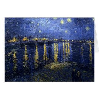 La nuit étoilée cartes de vœux