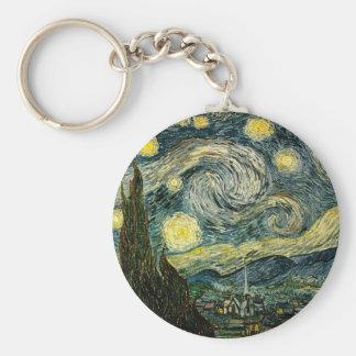 La nuit étoilée de Vincent van Gogh (1889) Porte-clé Rond