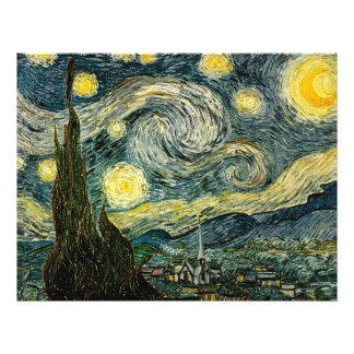 La nuit étoilée de Vincent van Gogh (1889) Prospectus Personnalisés