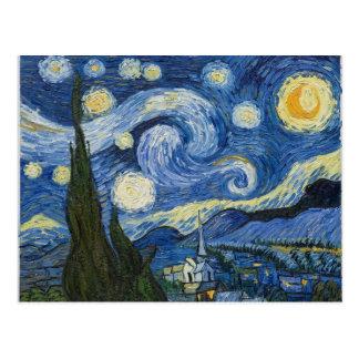 La nuit étoilée de Vincent van Gogh Carte Postale