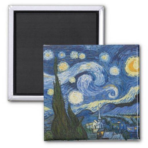 La nuit étoilée de Vincent van Gogh Aimant