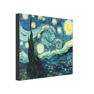 La nuit étoilée Van Gogh a enveloppé la copie de t Toiles