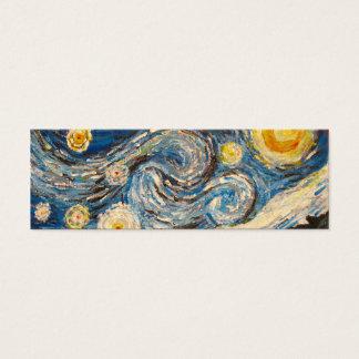 La nuit étoilée Van Gogh peignent la carte de