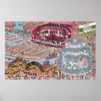 Là où est la chanson et la danse énormes de Waldo Poster