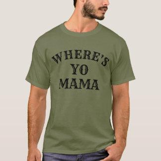 là où est la conception drôle de T-shirt de