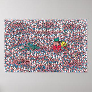 Là où est la terre de Waldo | de Waldos Poster
