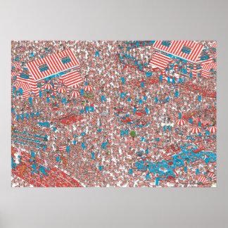 Là où est la terre de Waldo des trames Posters