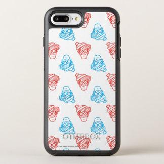 Là où est le motif rouge et bleu de Waldo de Coque Otterbox Symmetry Pour iPhone 7 Plus