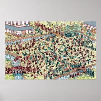 Là où est le problème de Waldo | au vieux Japon Poster