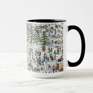 Là où est le ski de Waldo incline Mug