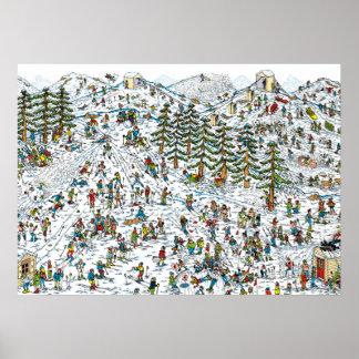 Là où est le ski de Waldo incline Posters