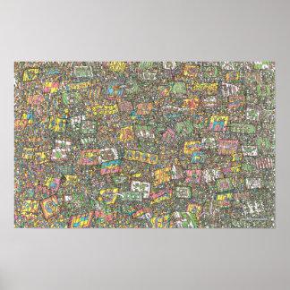 Là où est les chevaliers de Waldo | du magique Poster