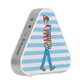 Là où est pile le transport de Waldo de livres Haut-parleur Bluetooth