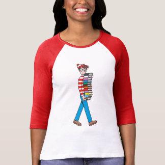 Là où est pile le transport de Waldo de livres T-shirt