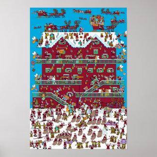 Là où est Waldo chalet de | Père Noël Poster