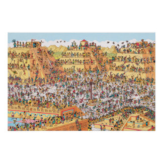 Là où est Waldo | de derniers jours des Aztèques Poster