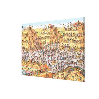 Là où est Waldo | de derniers jours des Aztèques Toile