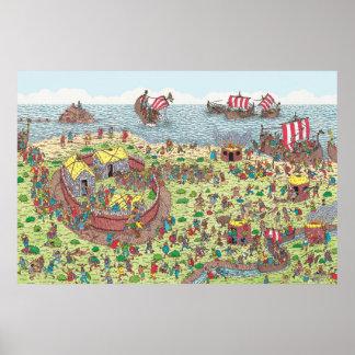 Là où est Waldo | en tournée avec les Vikings Poster