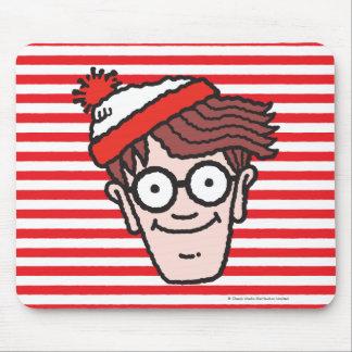 Là où est Waldo faites face Tapis De Souris
