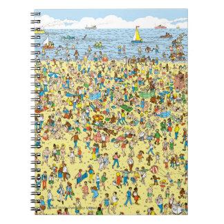 Là où est Waldo sur la plage Carnets À Spirale