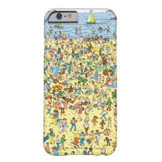 Là où est Waldo sur la plage Coque Barely There iPhone 6