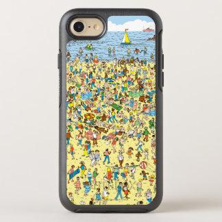 Là où est Waldo sur la plage Coque OtterBox Symmetry iPhone 8/7