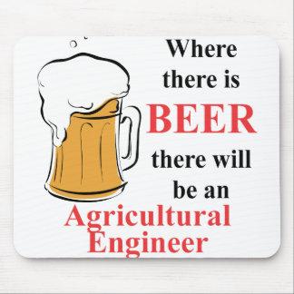 Là où il y a bière - agricole machinez tapis de souris