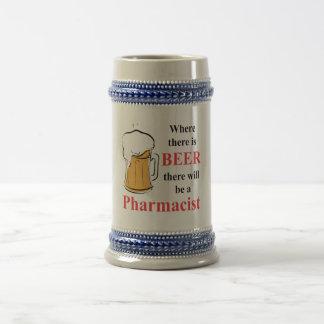 Là où il y a bière - pharmacien chope à bière