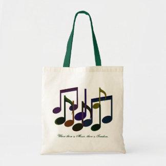 Là où il y a de musique sacs en toile