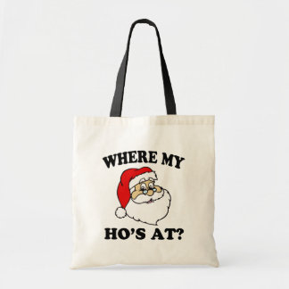 Là où mon Ho au sac drôle de Père Noël de Noël