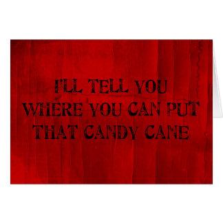 Là où vous pouvez mettre ce sucre de canne carte de vœux