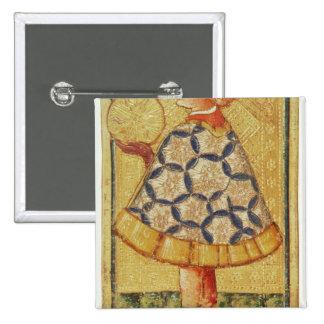La page des pièces de monnaie, d'un paquet de cart badge