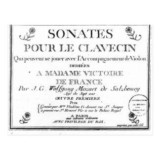La page titre pour 'Sonates versent le clavecin' Carte Postale