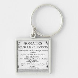 La page titre pour 'Sonates versent le clavecin' Porte-clé Carré Argenté