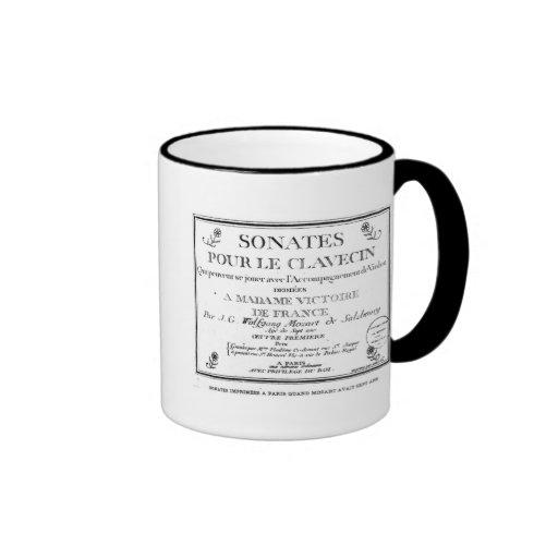 La page titre pour 'Sonates versent le clavecin' Tasses À Café